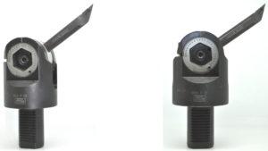 einstellbarer Drehmeißel - VDI 40 mit einstellbarem Winkel Verwendungszweck: Zum Freistiche drehen